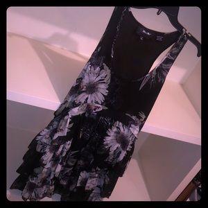 Miss Me Dress - Large Floral Black & Green